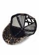 CC Cross Band Ponytail Trucker Hat in Leopard inset 2