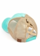 CC Cross Band Ponytail Trucker Hat in Mint inset 1