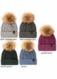 CC Exclusives Double Cable Beanie Hat with Fur Pom inset 1