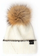 CC Exclusives Ribbed Knit Beanie with Fur Pom inset 1