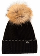 CC Exclusives Ribbed Knit Beanie with Fur Pom inset 2