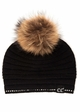 CC Exclusives Ridged Beanie with Crystal Trim and Fur Pom inset 1