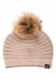 CC Exclusives Ridged Beanie with Crystal Trim and Fur Pom inset 2