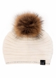 CC Exclusives Ridged Beanie with Crystal Trim and Fur Pom inset 3