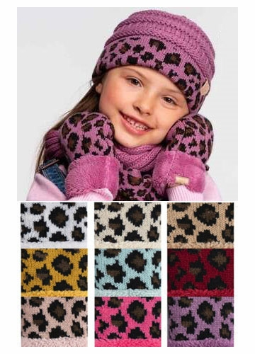 CC Kids Animal Print Beanie Hat