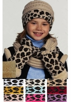 CC Kids Animal Print Mitten Gloves