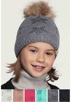 CC KIDS Beanie with Stars and Pom Pom