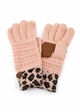 New CC Knit Gloves with Leopard Cuff inset 2