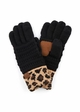 New CC Knit Gloves with Leopard Cuff inset 3