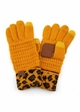 New CC Knit Gloves with Leopard Cuff inset 4