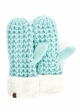 CC Knit Mitten Gloves with Sherpa Trim inset 1