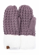 CC Knit Mitten Gloves with Sherpa Trim inset 2
