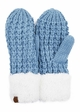 CC Knit Mitten Gloves with Sherpa Trim inset 4