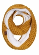 CC Knit Scarf with Sherpa Lining inset 2