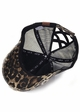 CC Leopard Ponytail Baseball Hat with Criss Cross Back inset 2