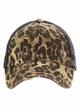 CC Leopard Ponytail Baseball Hat with Criss Cross Back inset 3