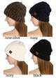 Chenille Wide Ribbed Knit CC Beanie Hat inset 3