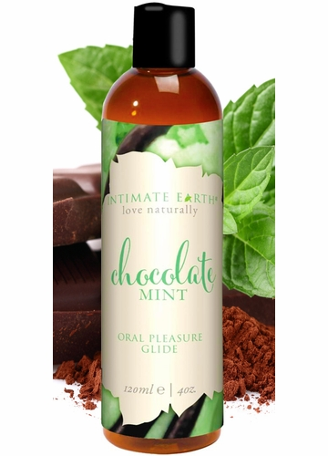 Chocolate Mint Intimate Earth Natural Flavors Massage Glide