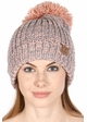 Chunky Knit Beanie Hat by CC Brand inset 3