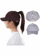 Cotton Ponytail Baseball Hat by CC Brand inset 3