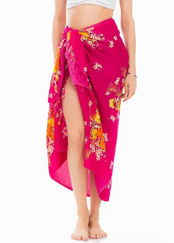 Cotton Sarong with Spring Flowers