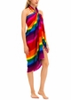 Cotton Sarong with Rainbow Stripe inset 1