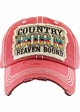 COUNTRY BORN HEAVEN BOUND Washed Vintage Ballcap inset 1