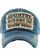 COUNTRY BORN HEAVEN BOUND Washed Vintage Ballcap inset 2