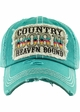 COUNTRY BORN HEAVEN BOUND Washed Vintage Ballcap inset 3