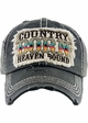 COUNTRY BORN HEAVEN BOUND Washed Vintage Ballcap inset 4