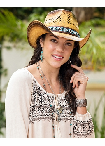 Cowboy Hat with Beaded Band