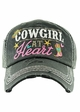 COWGIRL AT HEART Washed Vintage Ballcap inset 1
