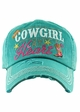 COWGIRL AT HEART Washed Vintage Ballcap inset 2