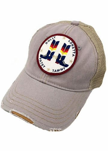 Cowgirl Boots Country Legends Trucker Hat