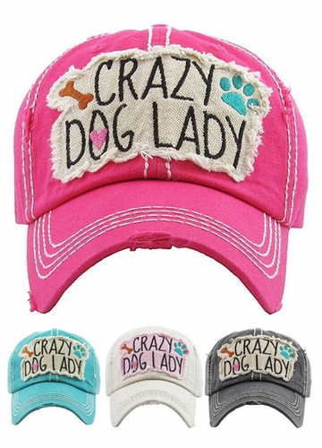 Crazy Dog Lady Vintage Baseball Hat