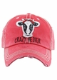 CRAZY HEIFER Washed Vintage Baseball Hat inset 2