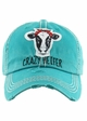 CRAZY HEIFER Washed Vintage Baseball Hat inset 3