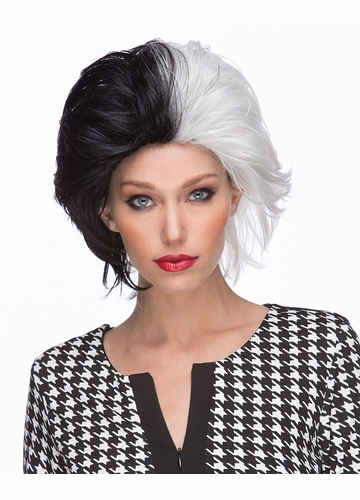 Cruel Lady Black and White Wig