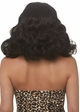 Curly Pinup Bob Wig with Retro Bangs in Black inset 2