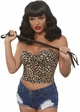 Curly Pinup Bob Wig with Retro Bangs in Black inset 3