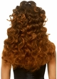 Curly wispy wig with Half Up Pony in Brown inset 1