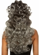 Curly wispy wig with Half Up Pony in Grey inset 1