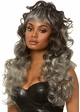 Curly wispy wig with Half Up Pony in Grey inset 2