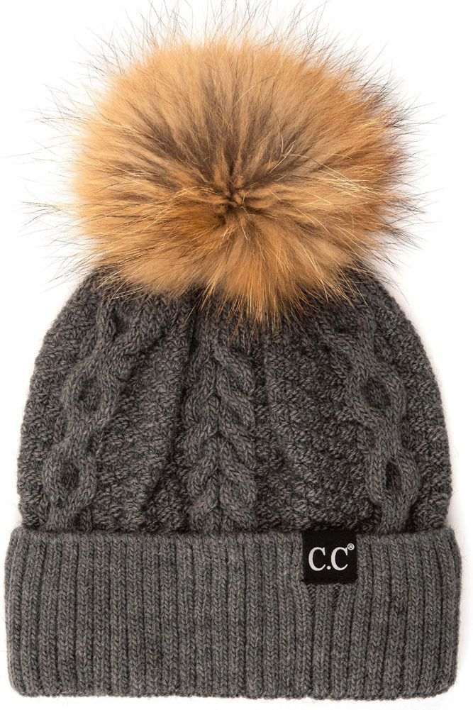 a83fb928616 dark-melange-grey-cc-exclusives-double-cable-beanie-hat-with-fur-pom-2.jpg