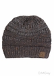 Dark Melange Grey Ombre Confetti CC Beanie with Ponytail Opening inset 1