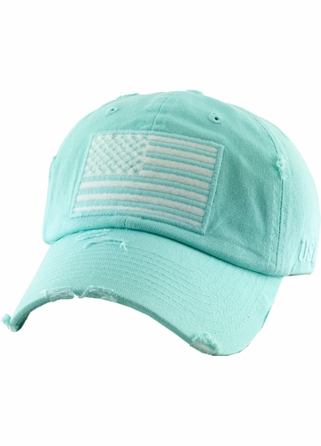 Day Blue US Flag Distressed Tactical Operator Baseball Hat