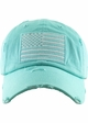 Day Blue US Flag Distressed Tactical Operator Baseball Hat inset 1