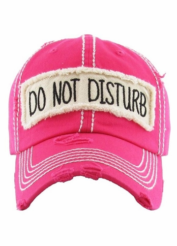 Do Not Disturb Patch Baseball Hat