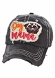 Dog Mama Pug Washed Vintage Baseball Hat inset 1