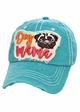 Dog Mama Pug Washed Vintage Baseball Hat inset 2